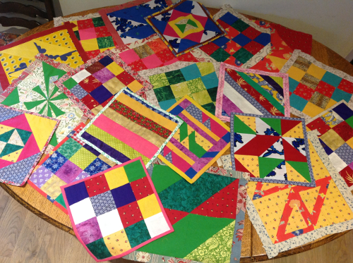 patchwork curtain pieces